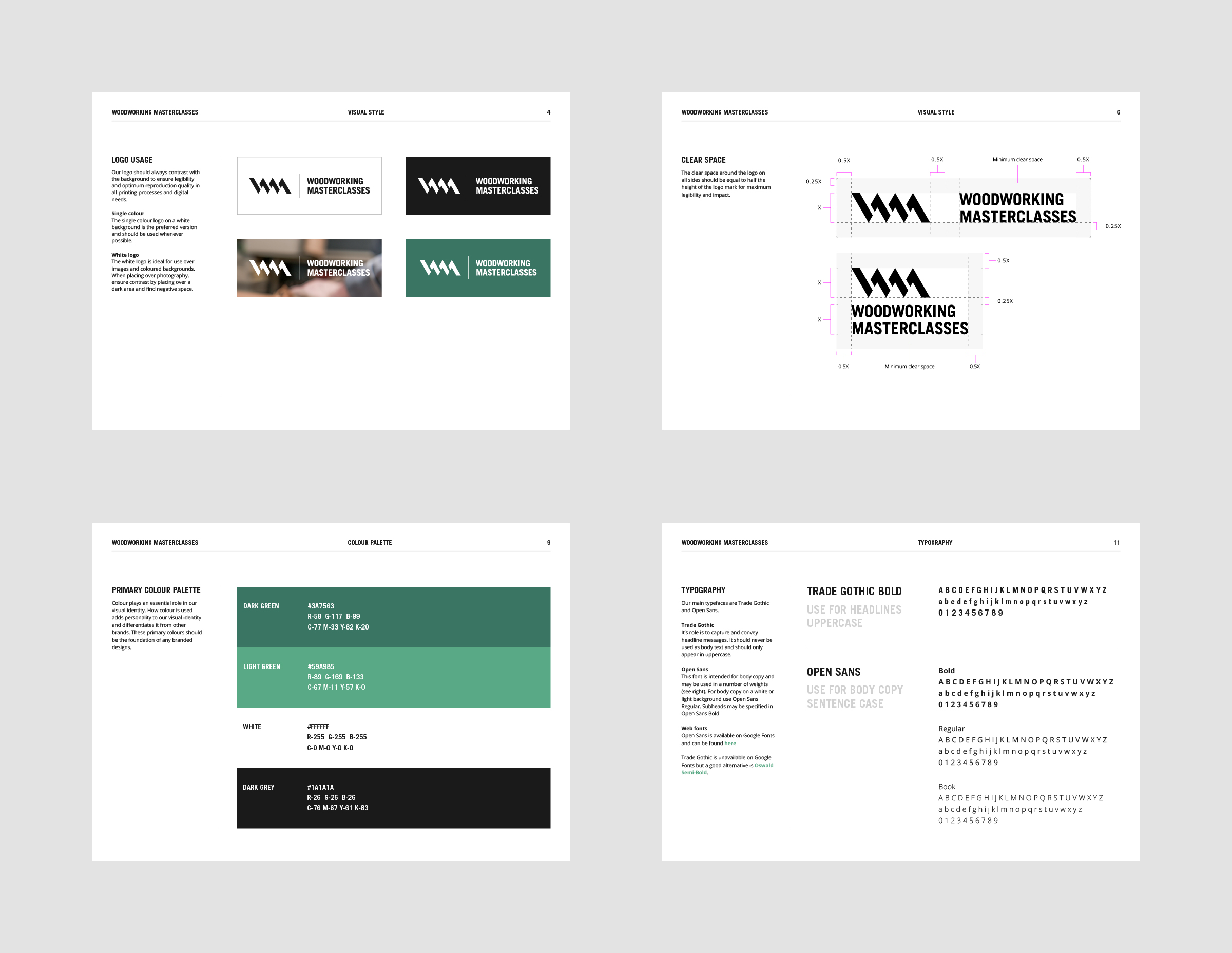 4 pages of brand guidelines