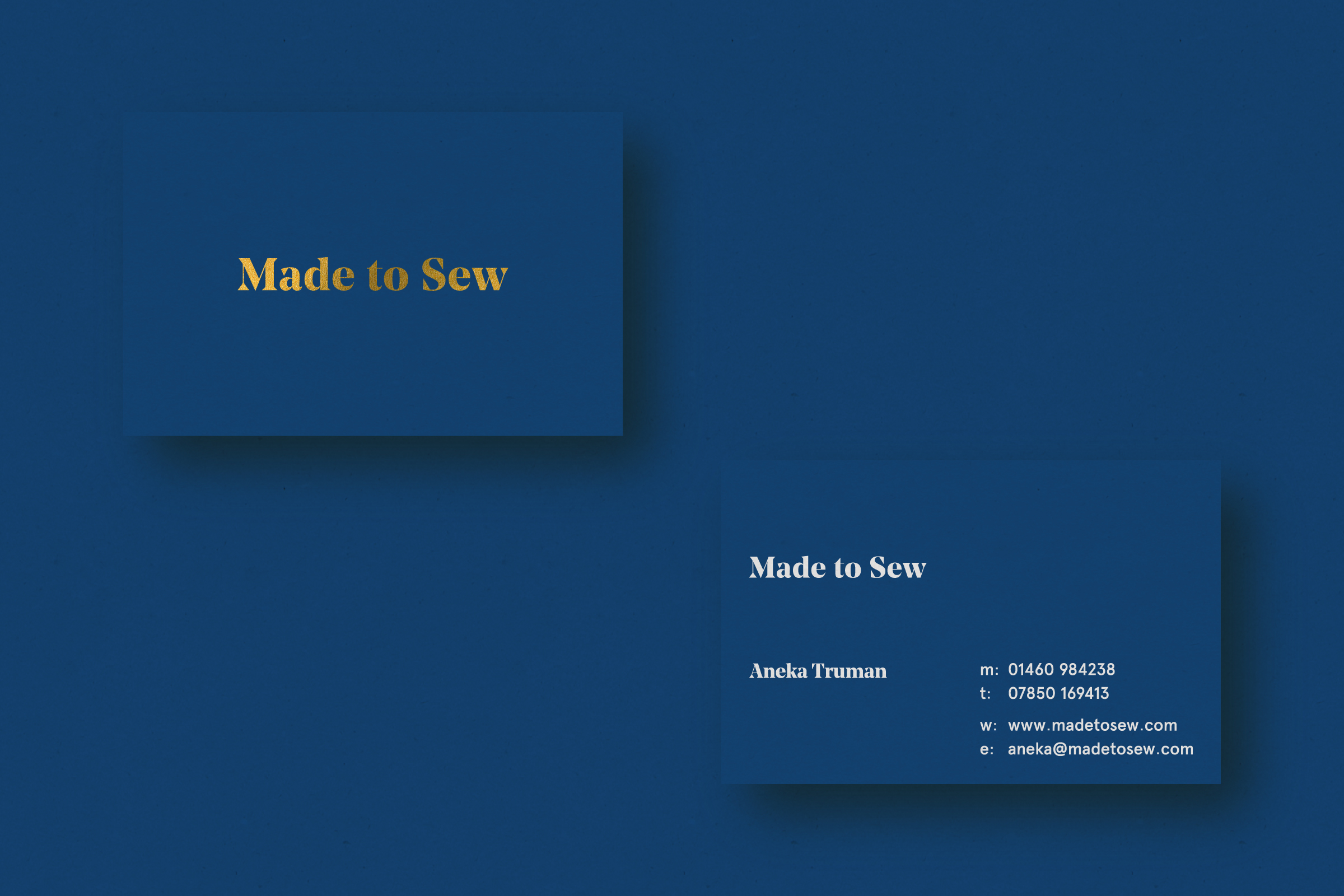 Business card design for Made to Sew