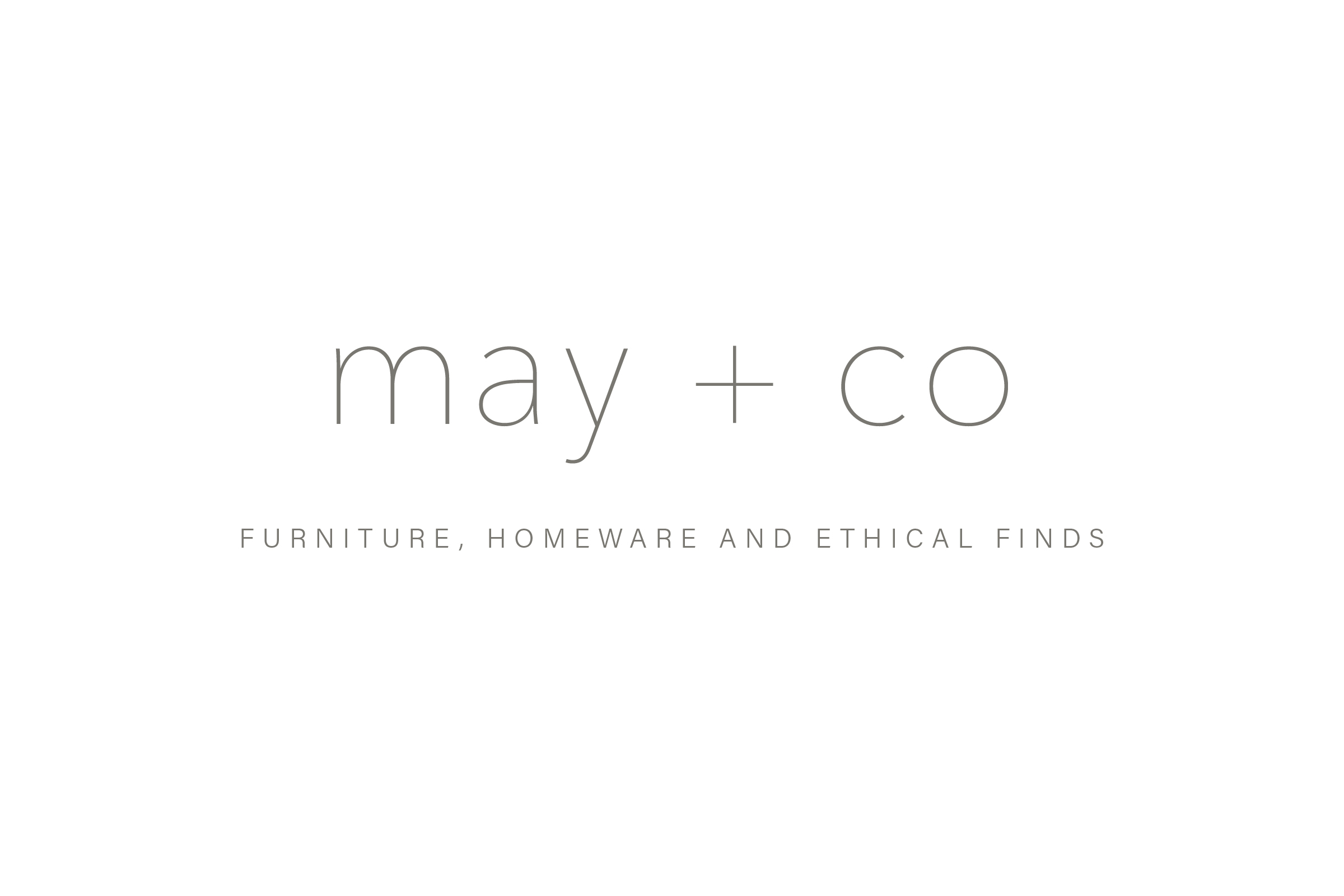Close up of May + Co logo
