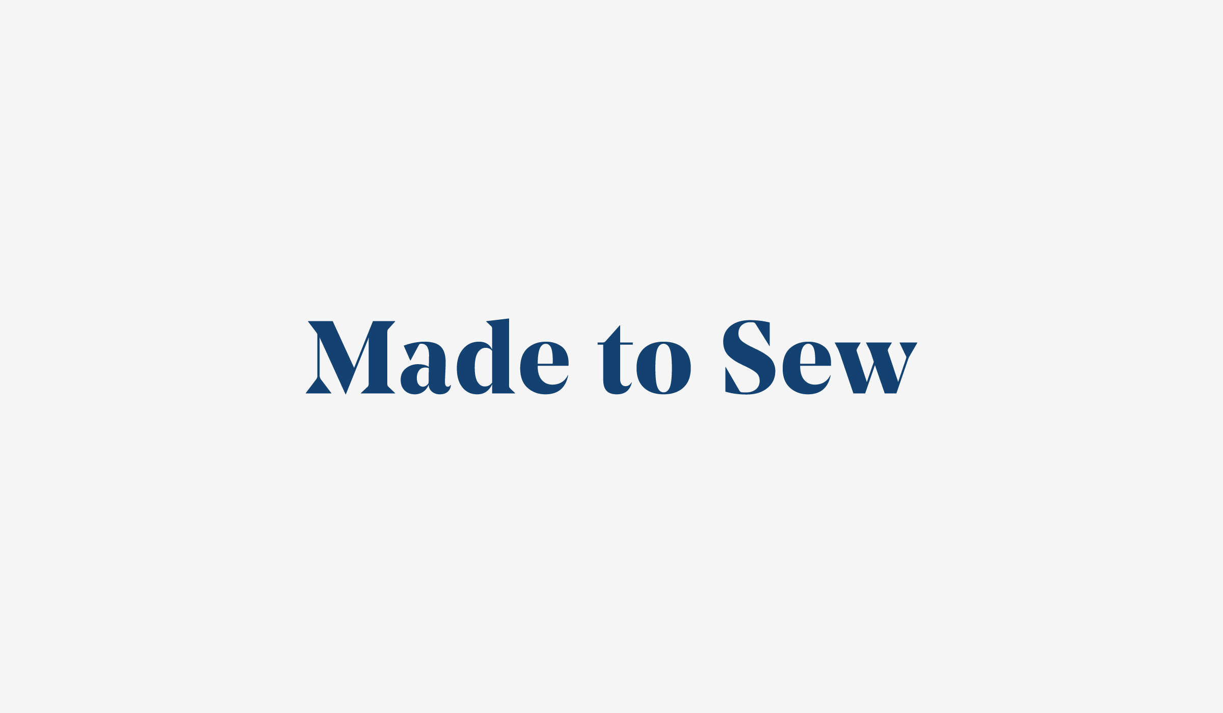 Close up of the Made to Sew logo